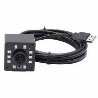Fisheye Lens 170degree Wide View 1080P Mini Metal Housing 10PCS IR LED IR CUT Infrared USB