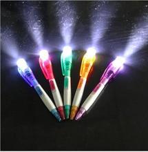 5pcs Cute creative office stationery strange new band led LED flashlight mult ifunction pen ballpoint pen