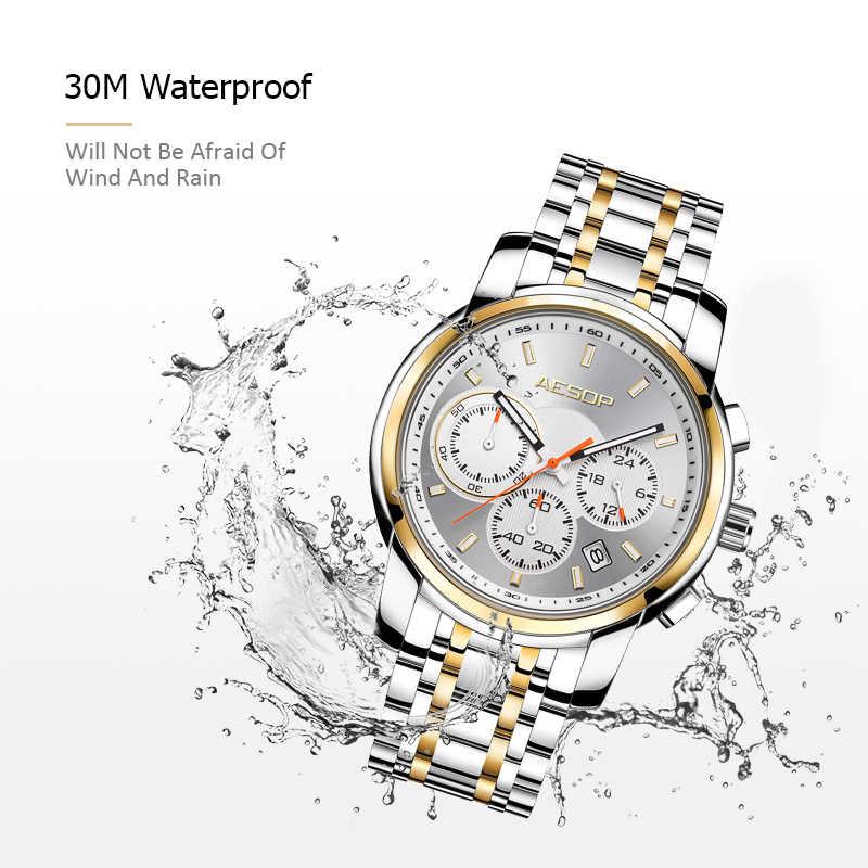 איזופוס שעון גברים ספורט גברים של קוורץ שעוני יד זכר שעון גברים הכרונוגרף עמיד למים נירוסטה איש שעון Relogio Masculino