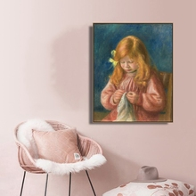 Jean Renoir sewing by Renoir Wall Art Canvas Poster and Print Canvas Painting Decorative Picture for Living Room Home Decor