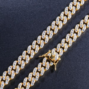 Image 4 - THE BLING KING 9mm Micro Pave Iced CZ Cuban Link Necklaces Chains Gold Color Luxury Bling Bling Jewelry Fashion Hiphop For Men