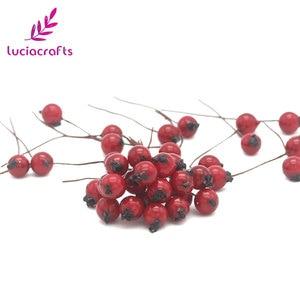 Image 4 - Lucia crafts 50pcs/lot Mini Fake Fruit Berries Artificial Pomegranate Cherry Stamen Wedding Home Christmas Decorative A0601