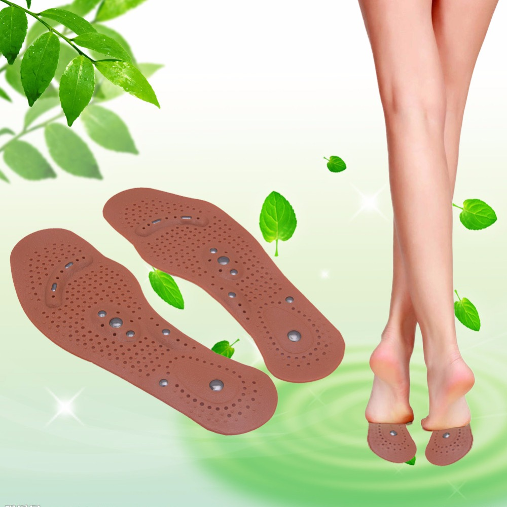 THINKTHENDO1Pair Foot Feet Care Magnetic Therapy Massage Insole Shoe Clean Health Boot Thenar Pad