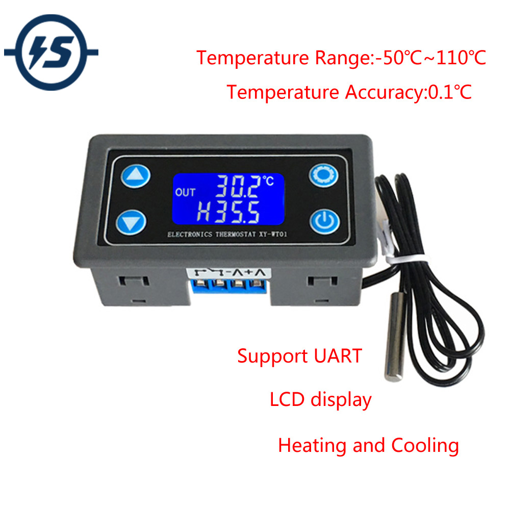 Stc 1000 Digital Lcd Display Thermostat Temperature Control Heating Controller Sensor Stc1000 220v 10a Dc 6v 30v Thermal Regulator Thermocouple