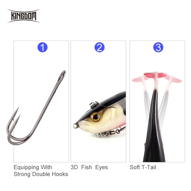 Kingdom Fishing Lure Soft Bait 170mm 55g Wobblers Multiple Applications Sinking Action Artificial Soft Lures PVC 8803 4