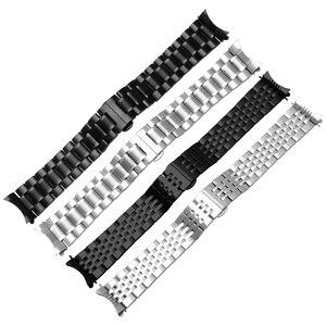 Image 5 - 23 مللي متر الفولاذ المقاوم للصدأ الأسود المعادن سوار استبدال الصلب حزام الرجال معصمه ل lumox