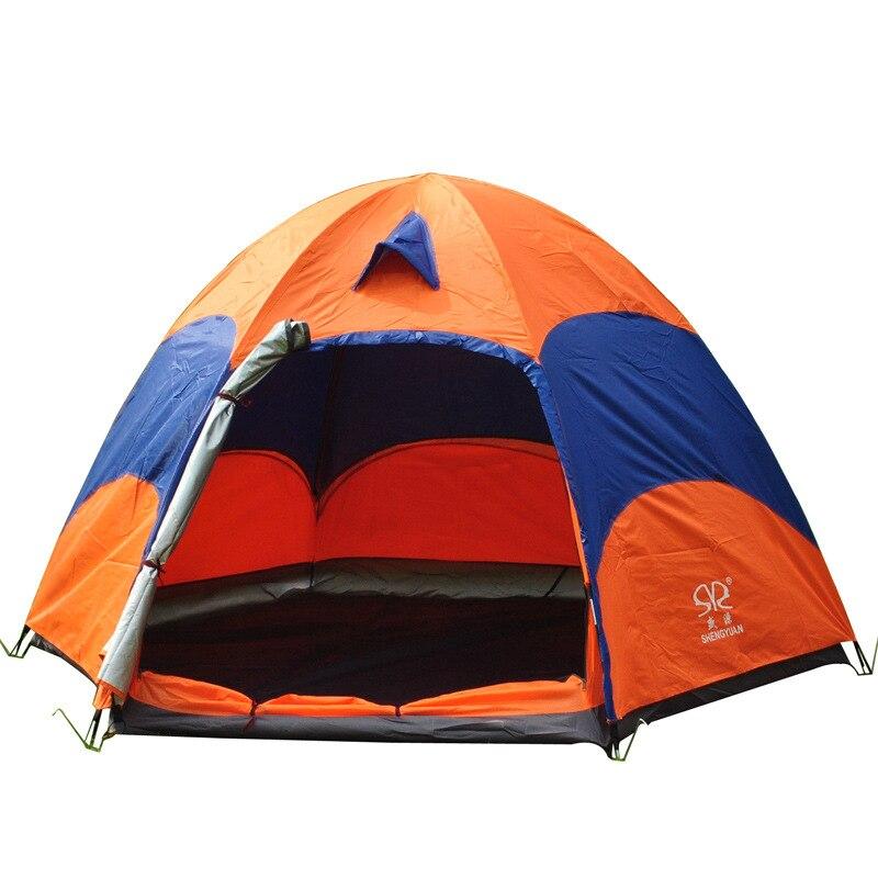 VILEAD Outdoor Tent 6 People Camping Tent Hexagonal Camp Tent Ger Ultraviolet-proof  Keep Warm Ultralight Anti-mosquito Gauze