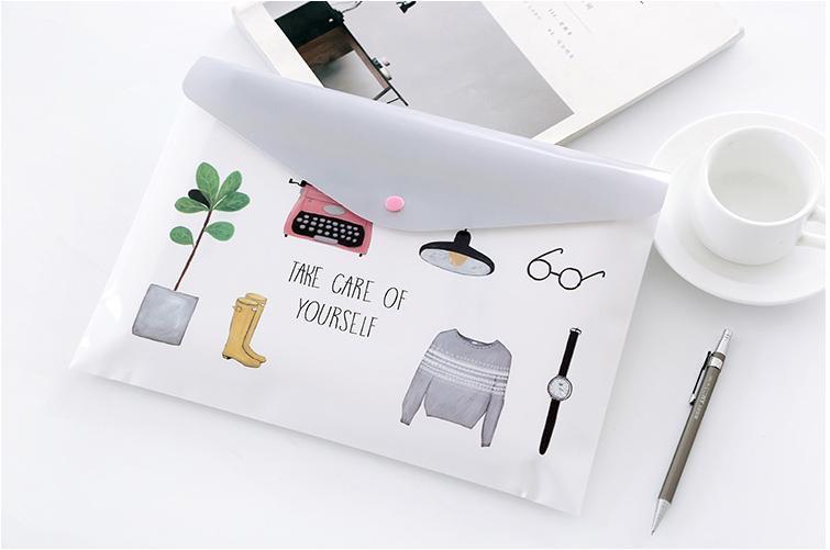 12 шт./лот хорошая модель A4 документ сумка/сумка для хранения данных/Пластиковые кнопки файл мешок/школы и офиса поставщик