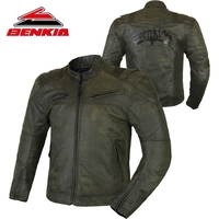 Benkia мотоцикл куртка Гонки Ретро Vintga мото защита Мотоцикл бронежилет Ретро езда мотоцикл куртка JS17