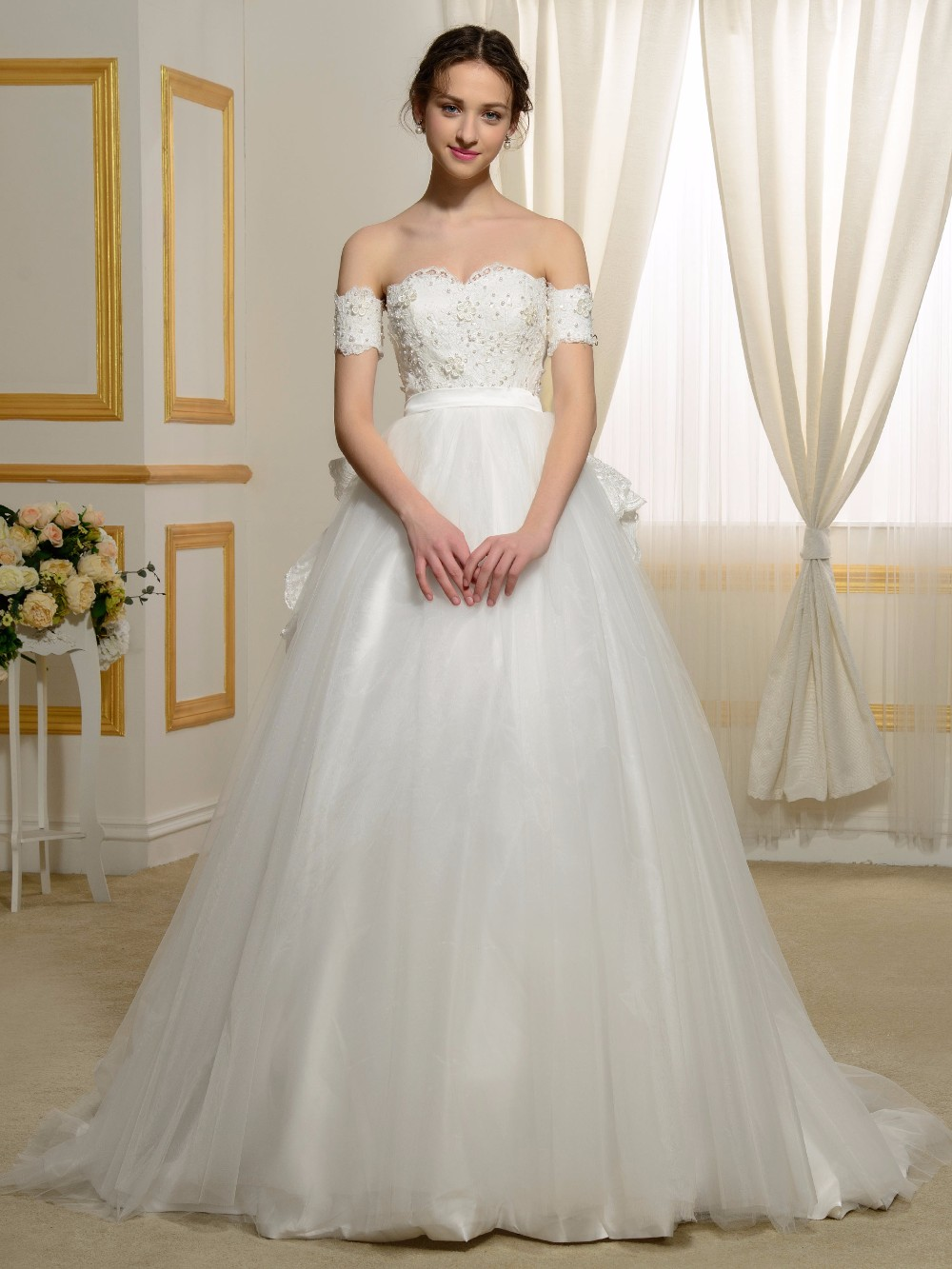 Wedding Fairy Wedding Dress online buy wholesale fairytale wedding dresses from china 2016 elegant white ball gown sweetheart neck beaded lace sweep train bridal