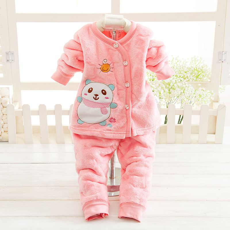2016 Autumn Winter Newborn Baby Clothes Set 2PCS Cotton Baby Boy Clothes Winter Girl Baby Clothing Sets infant clothing