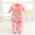 2016 Autumn Winter Newborn Baby Clothes Set 2PCS Cotton Baby Boy Clothes Winter Baby Girl Clothing Sets Infant Clothing