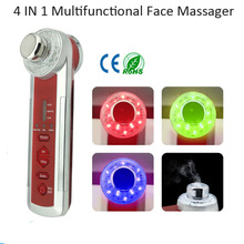 Wholesale — Electric  Ultrasound Microcurrent Vibrating Ionic Face Toner Steam Massager Device For Home Use