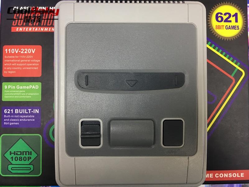 20 pièces HDMI super mini TV Famille Jeu Console HDMI 8 Bits Rétro Console de Jeu Vidéo Intégré 621 Jeux De Joueur De Jeu
