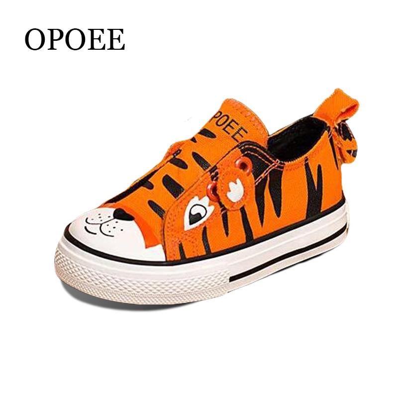 ბავშვთა ტილო ფეხსაცმელი ბიჭი მულტფილმი ცხოველთა შაბლონის ფირფიტა ფეხსაცმელი სუნთქვა კომფორტული ლამაზი გოგონების ფეხსაცმელი