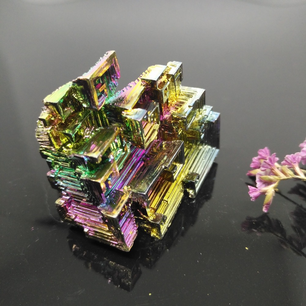 Bismuth Crystals 200g Bismuth Metal crystal bismuth crystals bismuth metal bismuth ingot 200g high purity 99 99% free shipping