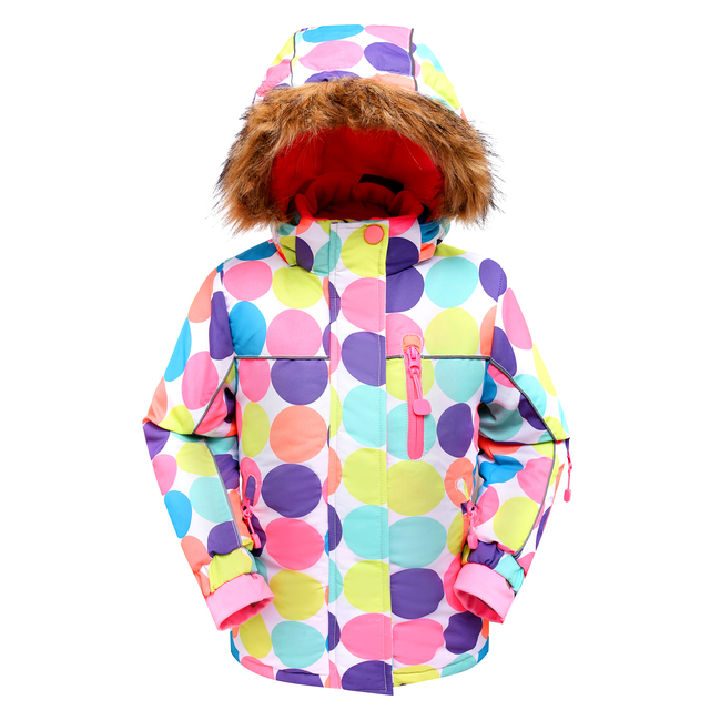 Girl  Floral Skiing Sports Jackets children Girls Outdoor Wind and waterproof Hooded Windbreaker Coat Kid menina reima Outerwear