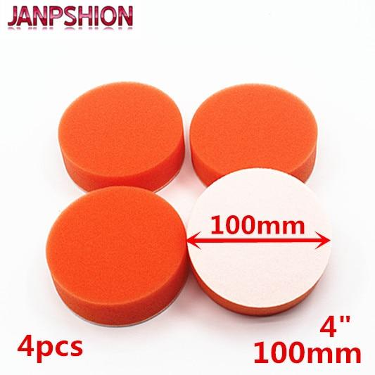 JANPSHION 4PC 100mm Gross Polishing Buffing Pad 4