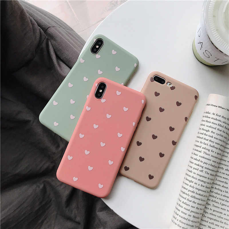 Cute Love Heart Silicone Case For Huawei Mate 20 Pro Mate 10 TPU Cover For Huawei P30 P20 Pro Nova 3 Cases Etui Coque