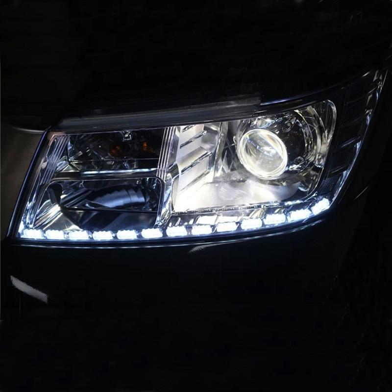 2 pcs warna ganda kristal mata LED day day running light DRL - Lampu mobil - Foto 5
