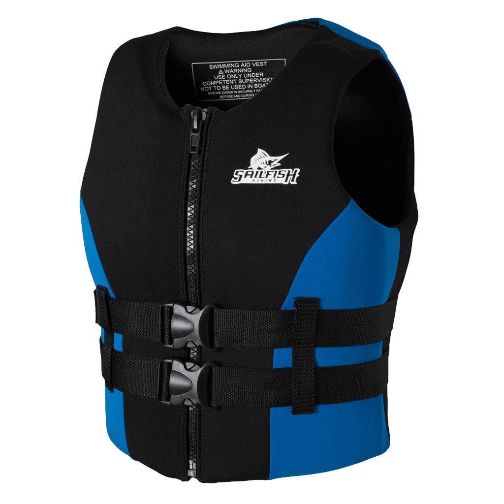 Perfeclan Water Sports Life Vest High Visibility Life Jackets Survival Aid Panel Water Safety Products Blue