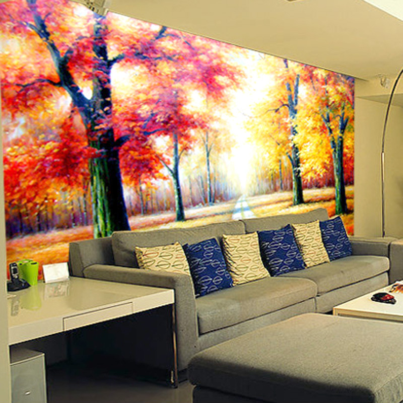3D Promotional Video Wall Murals Plant Trees Modern Minimalist Living Room Bedroom TV Background Wallpaper