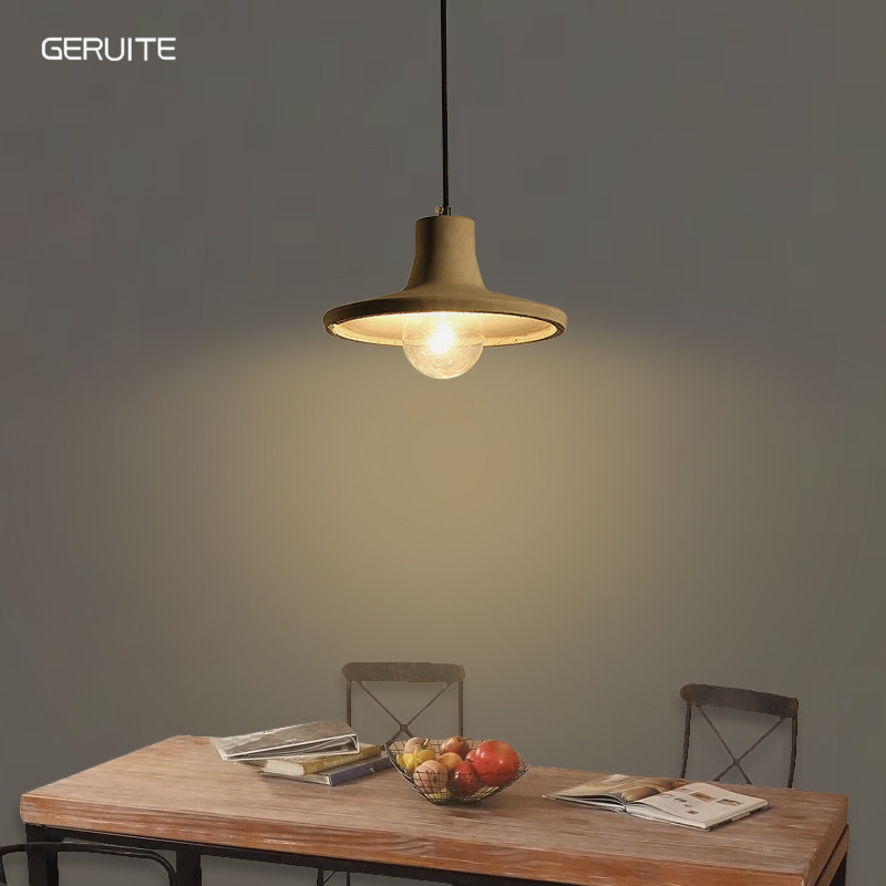 GERUITE Concrete Pendant Light Natural Cement Suspension Lamp Design Nordic Hanging Lighting Dinning Room Restaurant Hotel willlustr concrete pendant light cement suspension lamp minimalist design nordic hanging lighting dinning room restaurant hotel