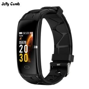 Image 1 - Gelee Kamm Sport Smart Armband Männer Frauen Bluetooth Wasserdichte Smart Band Fitness Tracker 0,96 zoll Farbe Bildschirm Smartband
