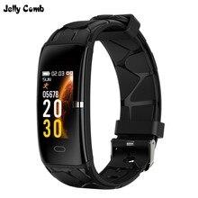 Jelly Comb Sport inteligentna bransoletka mężczyźni kobiety Bluetooth wodoodporna inteligentna opaska opaska monitorująca aktywność fizyczną 0.96 calowy kolorowy ekran Smartband