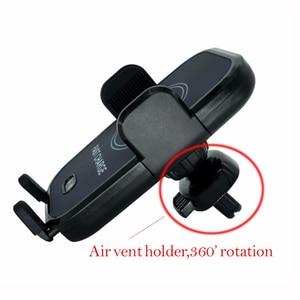 Image 4 - Rápido Carregador de Carro Sem Fio Sensor Infravermelho Automático Car Mount Air Vent Phone Holder Cradle para iPhone 8/8 Plus/X samsung S9 S8
