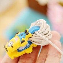 Fffas намотки компьютерный симпатичный кнопку шнура зарядки кабеля провода наушники android