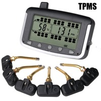 Tire Pressure Monitoring System Car TPMS With 6 Pcs Internal Sensors Truck Trailer RV Bus Miniature
