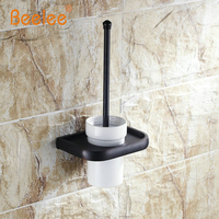 Beelee BA7404B OiL Rubbed Bronze Finish Wall Mounted Solid Brass Toilet Brush Holder Set Bathroom Accessories