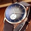 Novo pagani design simples estilo men watch top marca de luxo negócio do sexo masculino de couro genuíno relógio de quartzo de aço relógio de pulso militar