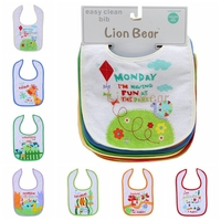 Infant Cotton Baby Boys Girls Baby Bibs 7 Day Gift Set Soft Cute Unisex Newborn Accessories