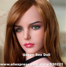 2016 NEW Top quality TPE solid sex dolls head for adult doll, oral real doll sex toy head, life size masturbator