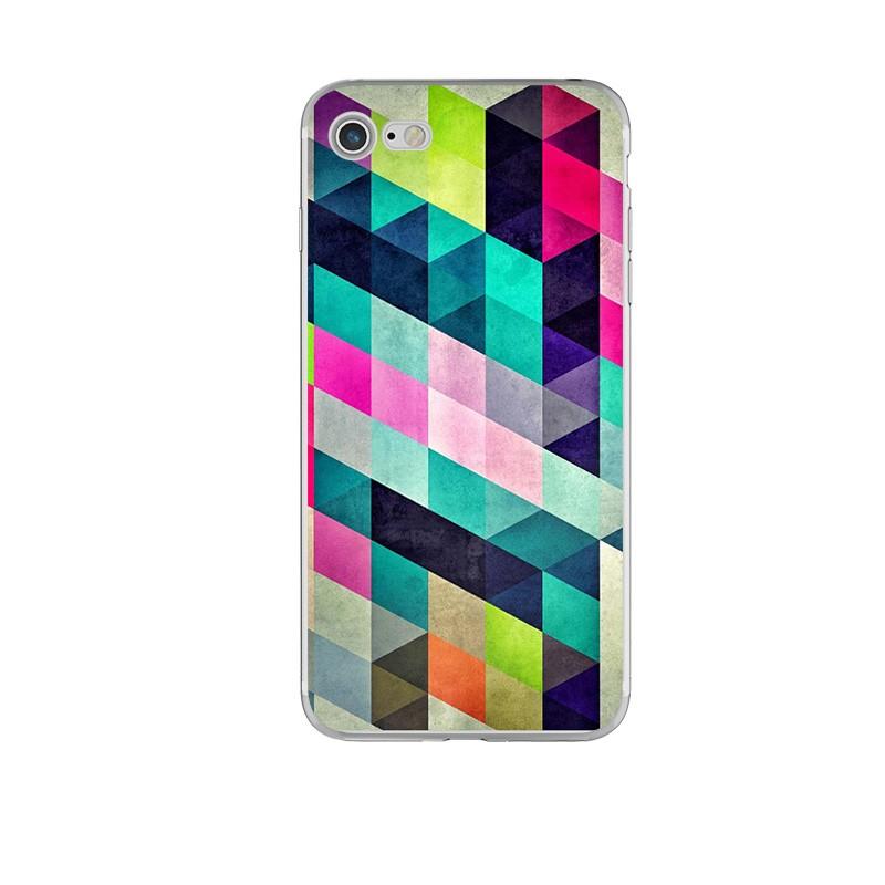 Чехол силиконовый с индивидуальным дизайном «Цветные фигуры» для iPhone