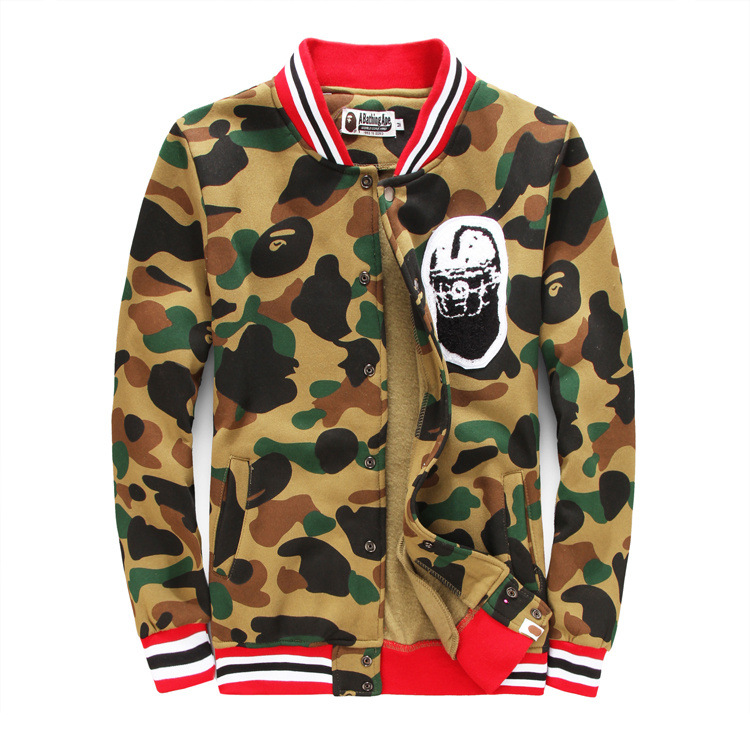 Bape Camouflage Jacket Baseball Men Women Unisex Fleece Camo Clothes Winter Coats Sport Outdoor Swag Hip Hop Streetwear Camping - Top Trends Co store