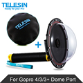 "TELESIN Waterproof 30M  6"" Dome Port + Protective Dome Bag for GoPro Hero4 3 /3+ Underwater Photography GoPro Hero4 Accessories"