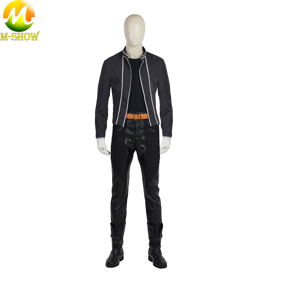 Free Shipping Anime Fullmetal Alchemist Cosplay Costume Edward Elric Halloween Cosplay Trench Coat Top Pants Custom Made