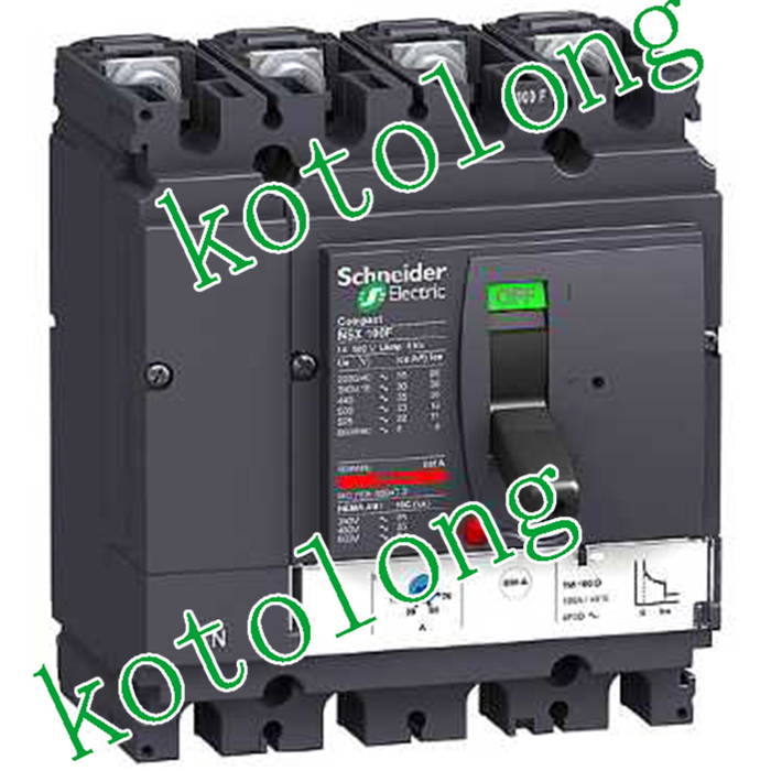 Compact NSX100F TMD 4P LV429640 4P-100A LV429641 4P-80A LV429642 4P-63A LV429643 4P-50A new 31624 circuit breaker compact ns250n tmd 100a 3 poles 2d