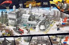 Modern military game PUBG moc Snow Cement Plant batisbricks block army figures weapon gun Parachute Ghillie suit bricks toys