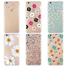 Cartoon Stars Cute Hand Little Flower Soft Clear TPU Phone Case For iPhone 4/4s 5 5s 6 6plus 7 8plus For iPhone x Free Shipping(China)