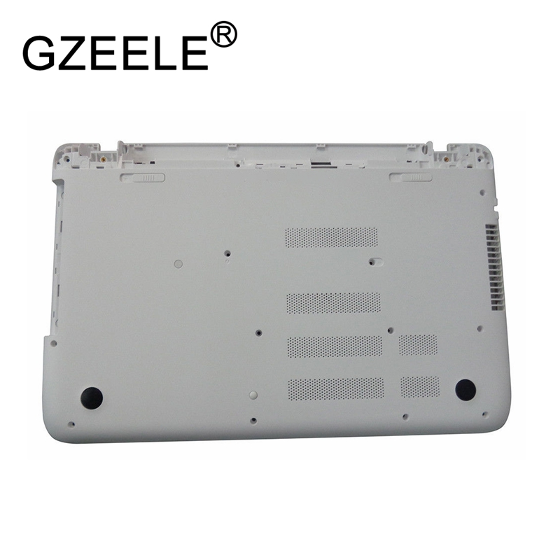 GZEELE New for HP Pavilion 15-P 15T-P Bottom Case Base Enclosure 762499-001 lower cover laptop replace shell white color цена