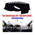 Tampas do painel do carro mat para FORD FOCUS RS ST 2011-2016 left hand drive dashmat pad traço cobre Instrumento plataforma acessórios