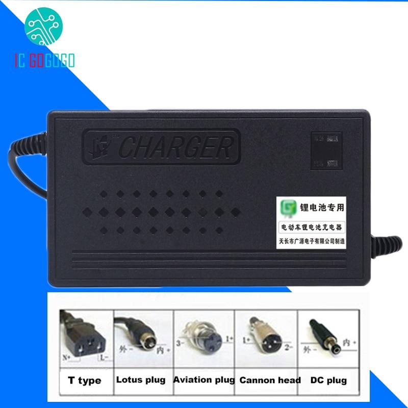 48V Ebike Li-ion LiPo Lifepo4 Lithium Iron Phosphate Battery Charger 1.8A 2A 3A 4A 5A 13S 14S 15S 16S Polymer E-bike Charging
