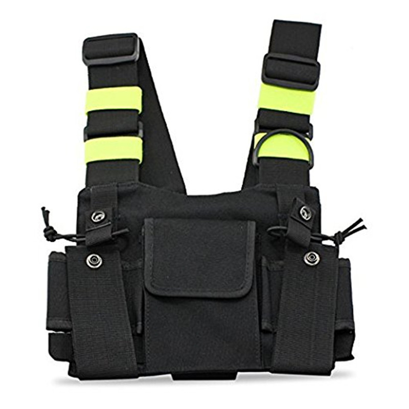 Outdoor Tactical Vest Radio Harness Chest Front Pack Pouch Holster Vest Rig Bag For Walkie Talkie Tactical Headsets & Accessorie