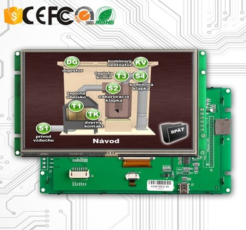 350cd/m2 Brightness LCD With TFT Type Module And Touch Screen And TTL Interface
