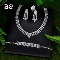 Be 8 New Luxury Cubic Zirconia Turkish Jewelry Sets for Bride 4PCS Earrings Necklace Pendientes Mujer Moda Jewelry S088