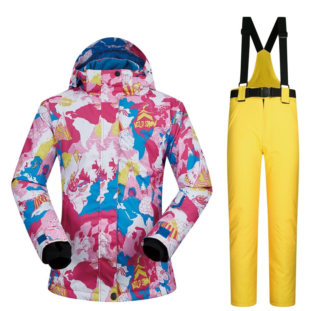 -30 Grad Frauen Winter Outdoor Trekking Camping Ski Jacke Und Hosen Winddicht Wasserdichte Wärme Atmungs Snowboard Anzüge In Vielen Stilen
